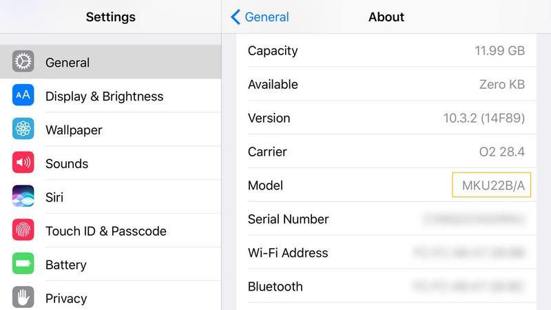 How to identify which iPhone you have: SKU number