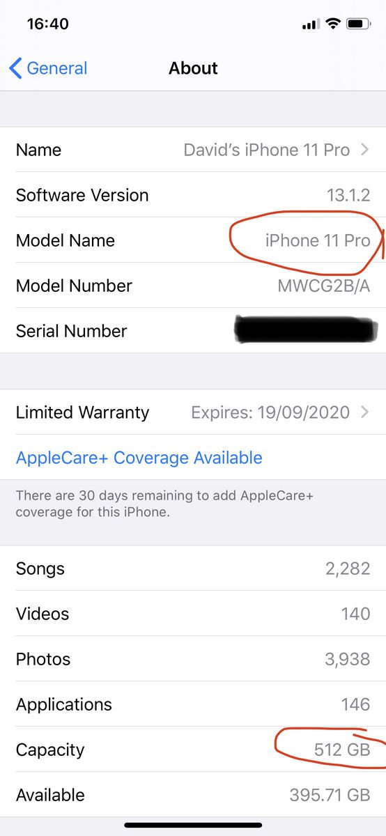 How to identify what iPhone you have: iOS 13 Settings